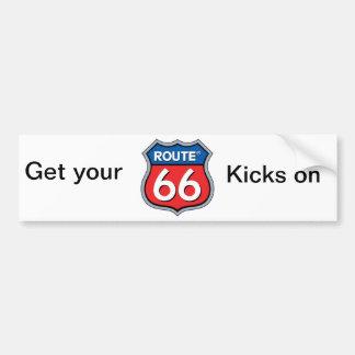 Route 66 bumper sticker