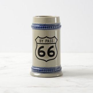 Route 66 - By Pass 18 Oz Beer Stein