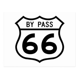 Route 66 - By Pass Postcard