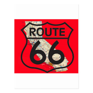 Route 66 California1 red Postcard