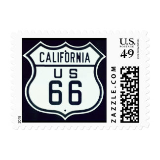 Route 66 California Postage Stamp