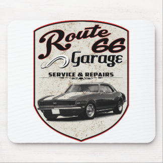 Route 66 Camaro Garage Mouse Pad