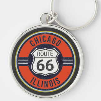 ROUTE 66 CHICAGO - Deluxe Key Ring