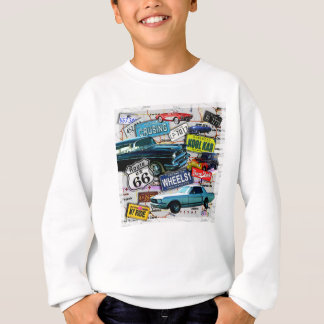 Route 66 - Classic Cars HOODIES & SWEATS