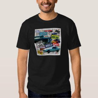 Route 66 - Classic Cars MENS DARK TEES