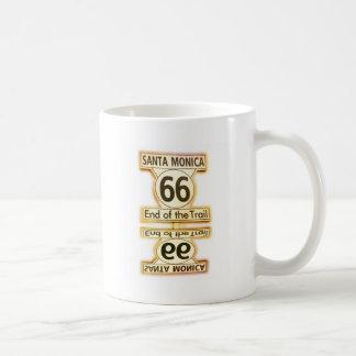 Route 66 classic white coffee mug