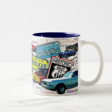 PopArtDiva Route 66_ClassicCars Cups & Mugs