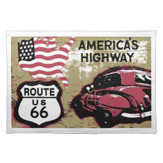 Route 66 cloth placemat