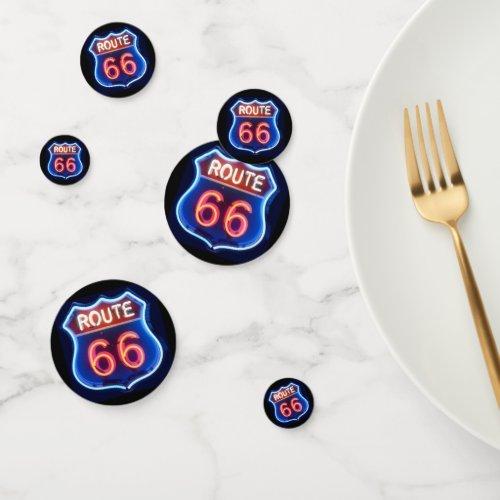 Route 66 confetti