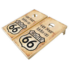 Route 66 cornhole set