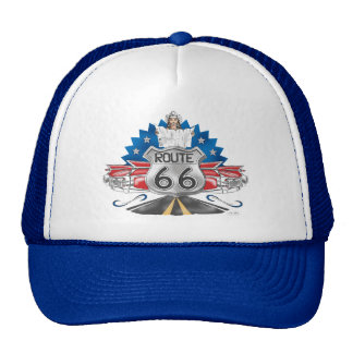 Route 66 Cowgirl Baseball Cap Trucker Hat