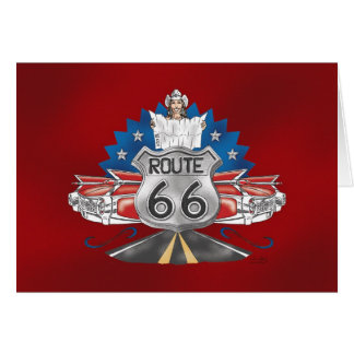 Route 66 Cowgirl Greeting Card