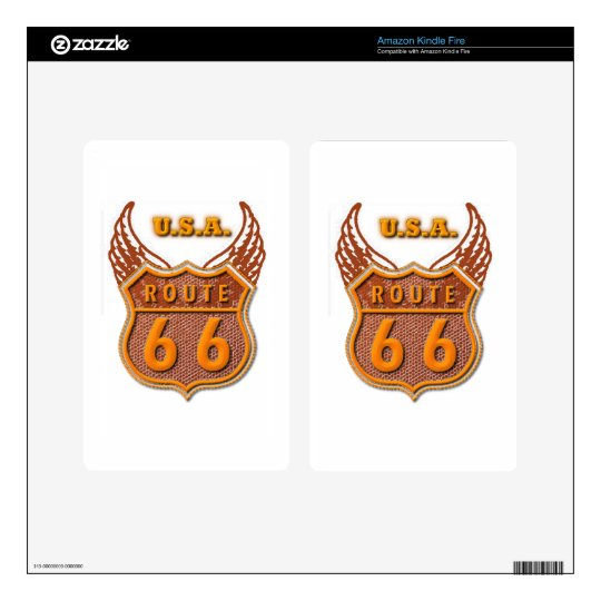 Route 66 decal for kindle fire