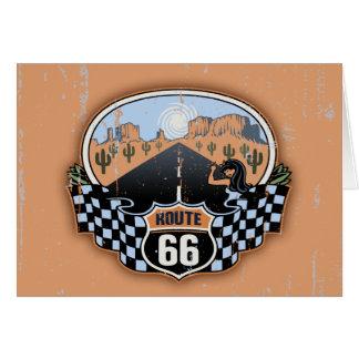 Route 66 Desert Card