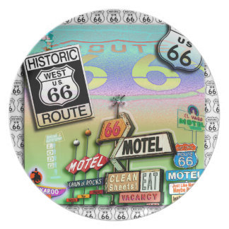 ROUTE 66 Designer PLATE by PopArtDiva