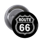 Route 66 Distressed 2 Inch Round Button