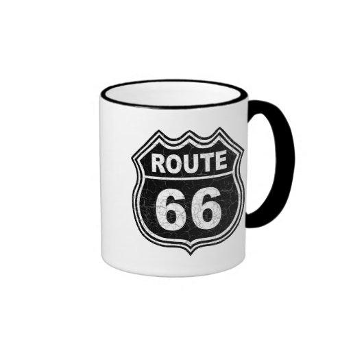 Route 66 Distressed Coffee Mug