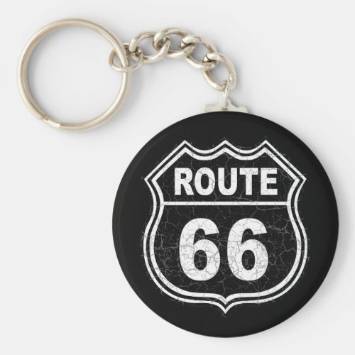 Route 66 Distressed Keychain