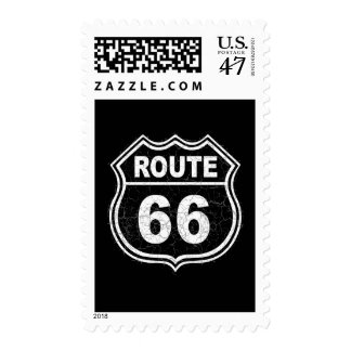 Route 66 Distressed Postage
