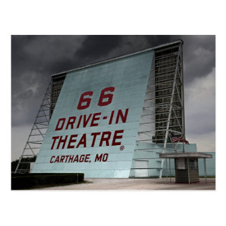 Route 66 Drive In Theater Postcard