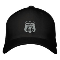 Route 66 embroidered baseball hat