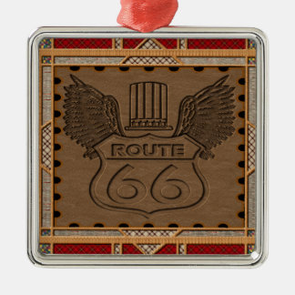 Route 66 fashion style metal ornament
