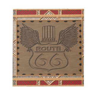Route 66 fashion style notepad