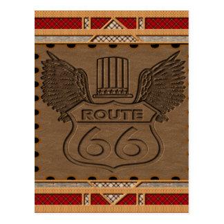 Route 66 fashion style postcard