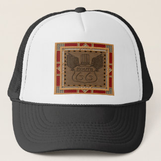 Route 66 fashion style trucker hat