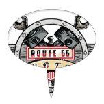 Route 66 figuras de tarta