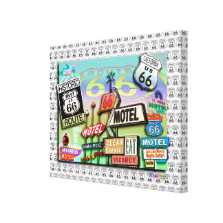 Route 66 Gallery Wrapped Canvas