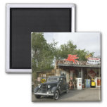 Route 66 General Store & Gas Station 2 Inch Square Magnet