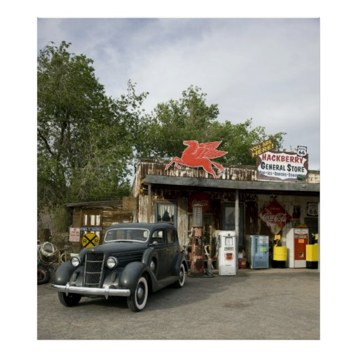 Route 66 General Store & Gas Station Print