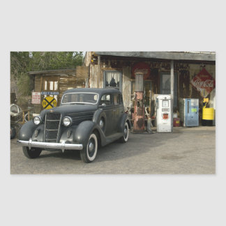 Route 66 General Store & Gas Station Rectangular Sticker