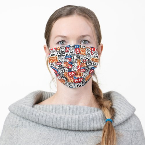 Route 66 _ Get your Kicks on Route 66 Adult Cloth Face Mask