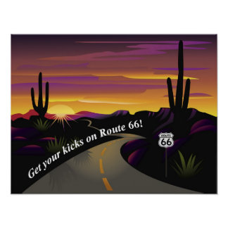 Route 66 Get Your Kicks Poster