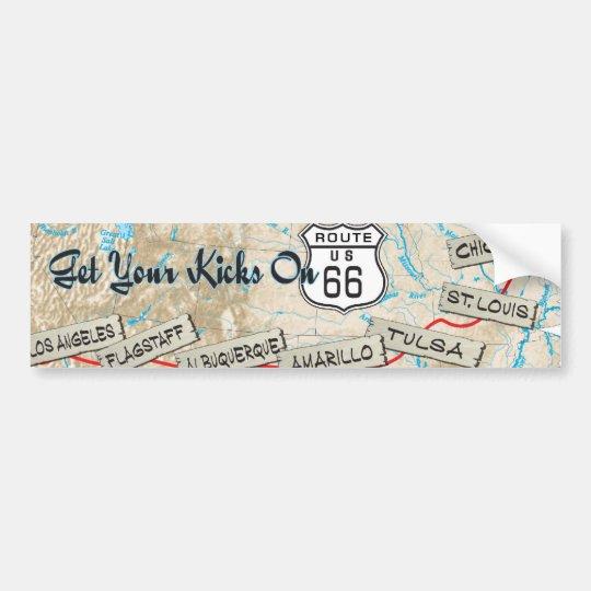 route 66 gifts bumper sticker