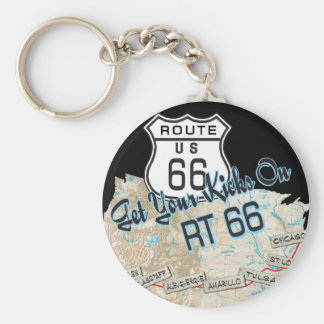route 66 gifts basic round button keychain