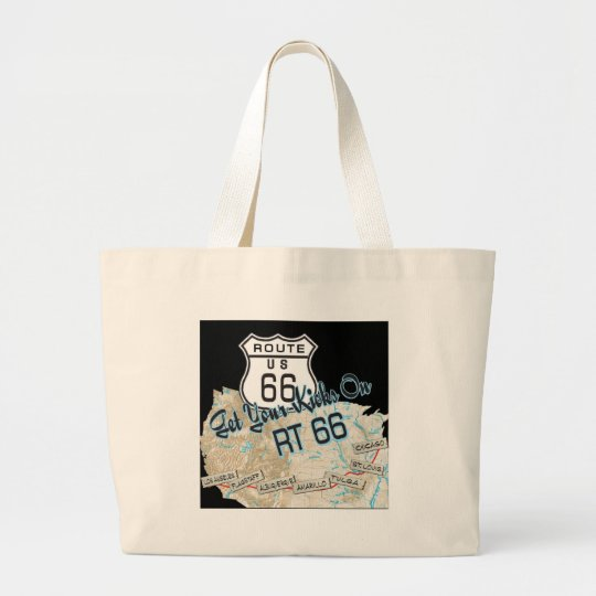 route 66 gifts large tote bag