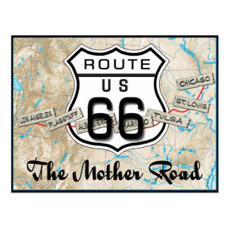route 66 gifts post card 2