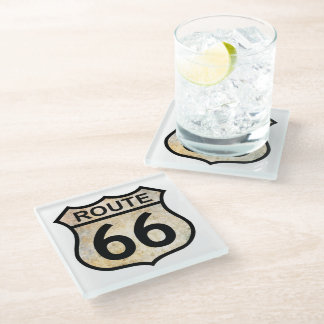 Route 66 glass coaster