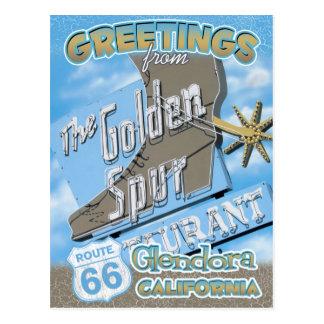 Route 66 Greetings Glendora California Postcard