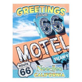 Route 66 Greetings Needles California Postcard