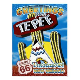 Route 66 Greetings Tucumcari New Mexico Postcard