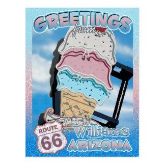 Route 66 Greetings Williams Arizona Postcard