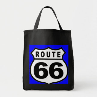 Route 66 Grocery Tote Vintage Americana