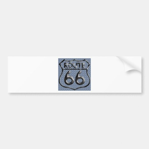 Route 66 hammered metal car bumper sticker