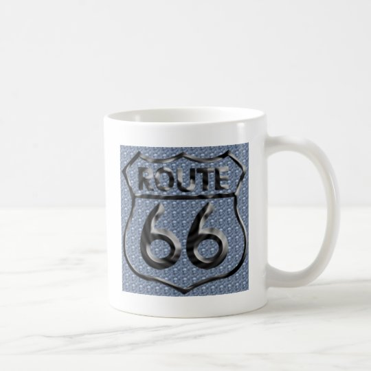 Route 66 hammered metal coffee mug
