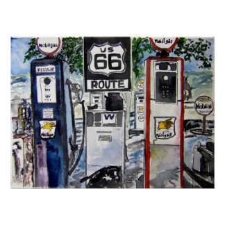 route 66 highway art print