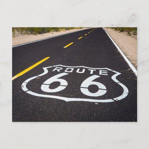 Route 66 highway marker Arizona Postcard